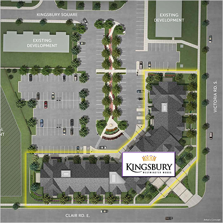 The Kingsbury, Guelph, Sitemap