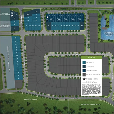 Pinehurst Community, Paris, Sitemap