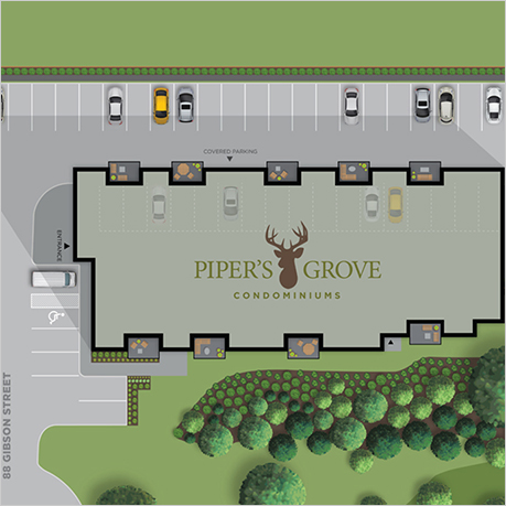 Piper's Grove, Ayr, Sitemap